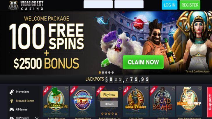 Vegas Crest Casino review, ratings of Vegas Crest Casino