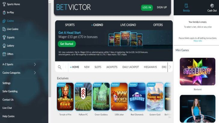 BetVictor Casino review, online casino sites betvictor