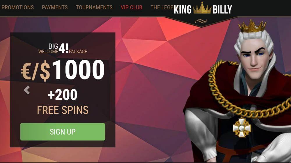 King Billy Casino Welcome Bonus