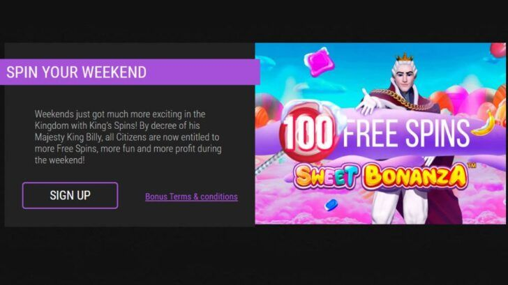 King Billy Casino free spin codes