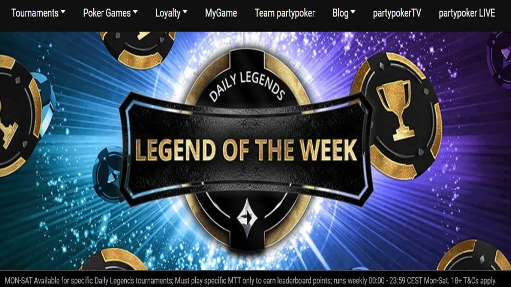 Party Poker weekly touraments