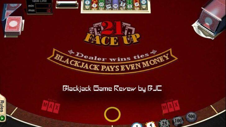 Face Up 21 review, blackjack game details